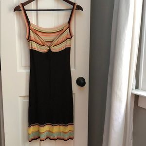 Ladies Missoni vintage brown spaghetti strap dress
